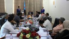 المجلس الإنتقالي يواصل اعمال جلسات الإجتماع الأول بمقره الرسمي بعدن