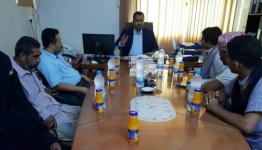 عضو هيئة رئاسة المجلس الانتقالي وزير النقل  يجتمع بمكتب النقل  بحضرموت