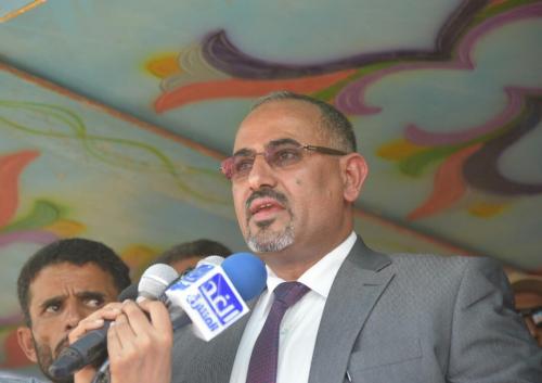 الرئيس الزبيدي يدشن المجلس الانتقالي الجنوبي في أبين