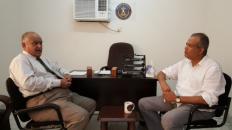عضو المجلس الانتقالي شطارة يستقبل رئيس القيادة المحلية بالعاصمة عدن