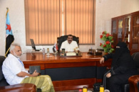 """رئيس الجمعية الوطنية اللواء احمد سعيد بن بريك يلتقي برئيسة """"مؤسسة الغد للتنمية"""""""