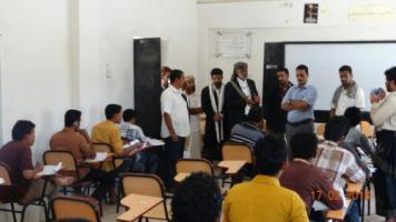 القيادة المحلية للمجلس الأنتقالي بمحافظة شبوة تدشن امتحانات الدور الثاني في كلية التربية