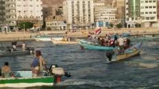 عرض بحري في خور المكلا احتفالاً بالذكرى الأولى لإعلان عدن التاريخي وتأسيس المجلس الانتقالي الجنوبي