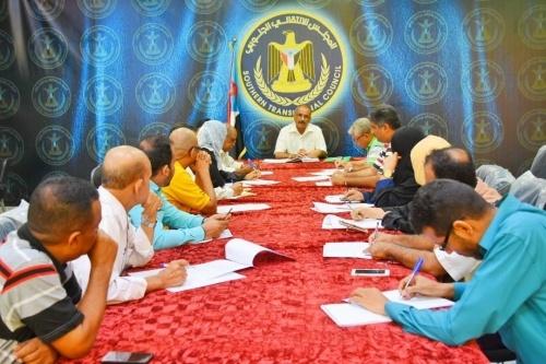 الأمانة العامة للمجلس الانتقالي الجنوبي تناقش التحضيرات لاستقبال الذكرى الثالثة لتحرير العاصمة عدن