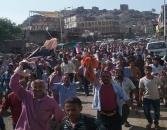 ابناء الضالع يستجيبون لدعوة المجلس الانتقالي ويحتشدون مطالبين بمحاربة الفساد واستعادة الدولة