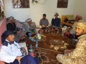 قيادة انتقالي شبوة تزور محور حراد التابع للنخبة الشبوانية