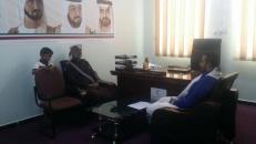 رئيس انتقالي شبوة يزور مكتب الهلال الأحمر الإماراتي ويطلع على الأعمال الإنسانية التي ينفذها في المحافظة