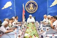 الرئيس الزُبيدي يلتقي قيادة مركز دعم صناعة القرار