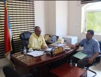 مساعد الأمين العام يناقش مع القائم بأعمال رئيس نادي شمسان الأوضاع التي يمر بها النادي