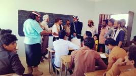 رئيس انتقالي شبوة يزور عدد من المرافق الحكومية في المصينعه بمديريه الصعيد شبوة