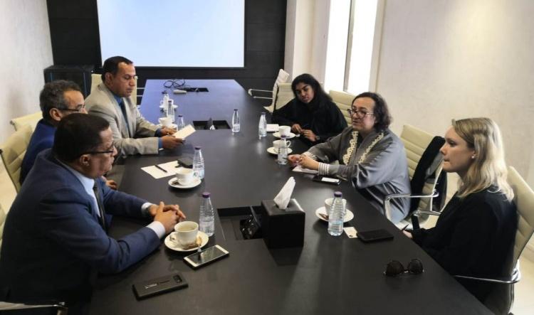 الخبجي والنقيب يلتقيان نائبة السفير البريطاني لدى اليمن ويشيدان بجهود بريطانيا لإحلال السلام