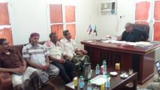 بن الشيخ أبوبكر يناقش خطة نشاطات القيادة المحلية لانتقالي شبام