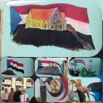 بدعم ورعاية المجلس الانتقالي.. إعادة رسم  شعارات ومعالم جنوبية على الجدران  بمديرية صيرة