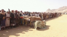 رئيس انتقالي شبوة يتقدم جموع مشيعي الشيخ صالح لرقب بمرخة