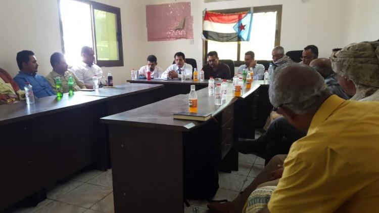 رئيس القيادة المحلية للمجلس الانتقالي الجنوبي بمحافظة لحج رمزي الشعيبي يتسلم مهام عمله