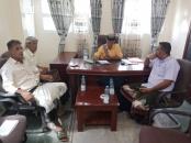 رئيس انتقالي ابين يلتقي بعدد من رؤساء الإدارات التنفيذية
