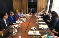 الرئيس الزُبيدي يلتقي ممثلة منظمة القيادات التاريخية العالمية في لندن
