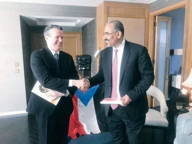 الرئيس الزبيدي يلتقي بلندن برئيس ومؤسس مجموعة الدبلوماسيين المستقلين