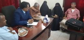 رئيس انتقالي لحج يلتقي رئيس جمعية الصم البكم بالمحافظة