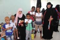 دائرة المرأة والطفل في زيارة لقسم سرطان الأطفال في مستشفى الصداقة بالعاصمة عدن