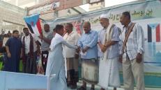 انتقالي المكلا يقيم فعاليات وختايم مسجد عثمان بن عفان بحي الشهيد عمر بازنبور