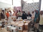 تدشين توزيع السلال الغذائية المقدمة من المجلس الانتقالي الجنوبي على الأسر المحتاجة بمحافظة أبين