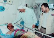 الرئيس الزُبيدي يتفقد أحوال الجرحى بمستشفيات العاصمة عدن