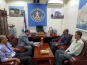اللواء بن بريك يلتقي البرفسور العمودي رئيس جامعة عدن السابق