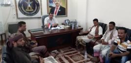 رئيس انتقالي لحج يلتقي رؤساء القيادات المحلية بالحوطة والمسيمير والمضاربة