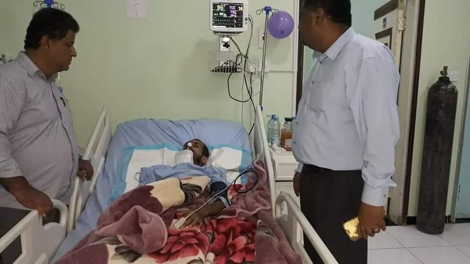 قيادات من الانتقالي تتفقد جرحى معارك تطهير الجنوب من مليشيا الإرهاب في  العاصمة عدن