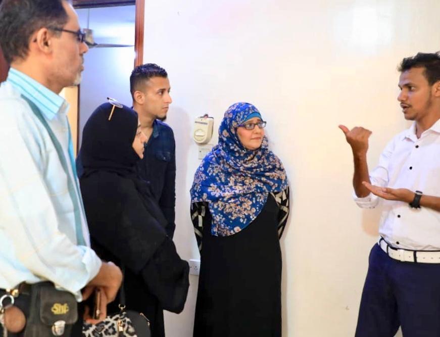 رئيسة وأعضاء دائرة حقوق الإنسان يقومون بزيارة تفقدية للهيئة المواصفات والمقاييس وضبط الجودة بالعاصمة عدن