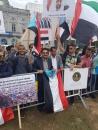 أبناء الجنوب في أوروبا ينفذون وقفة أمام البرلمان الأوروبي تأييداً للمجلس الانتقالي ووفاءً لدول التحالف العربي