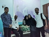 قيادات في انتقالي العاصمة عدن تطمئن على صحة الجريحة ريام محمد عوض