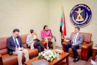 الأمين العام يناقش مع ممثلة منسقة الشؤون الإنسانية بمكتب الأمم المتحدة الوضع الانساني في الجنوب