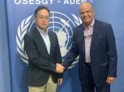 شطارة يلتقي نائب المستشار السياسي بمكتب المبعوث الأممي الخاص إلى اليمن