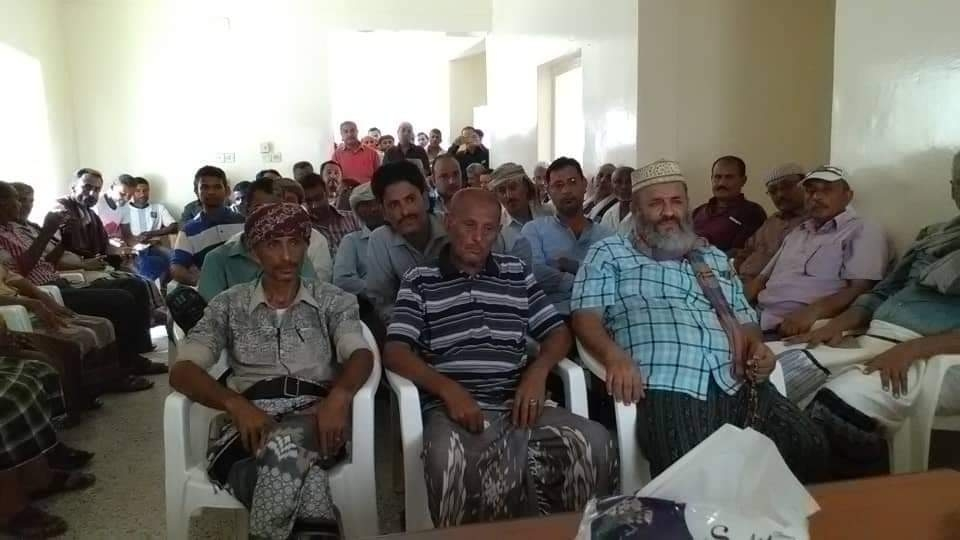 القيادة المحلية للمجلس الانتقالي بدارسعد تعقد اجتماعاً موسعاً بحضور جميع الأعضاء