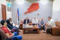 رئيس الجمعية الوطنية يلتقي رئيس وقيادات مجلس الحراك الثوري