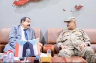 رئيس الجمعية الوطنية يلتقي قائد المنطقة العسكرية الرابعة