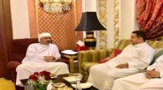 الرئيس الزُبيدي يلتقي الشخصية الاجتماعية الجنوبية أمين حيدرة بجدة