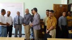 نائب رئيس انتقالي العاصمة عدن يتفقد كلية الاقتصاد والعلوم السياسية بمدينة الشعب
