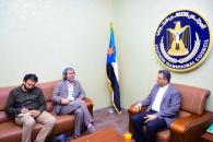 الأمين العام يبحث مع مدير مكتب الأمم المتحدة بالعاصمة عدن الأوضاع الإنسانية والخدمية في عدن والمحافظات الجنوبية