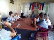 انتقالي خورمكسر يعقد اجتماعا استثنائيا لمواجهة آثار ومخلفات الأمطار