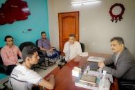 الأمين العام يلتقي الطالب المتفوق حسين حلبوب ويؤكد على اهتمام المجلس بالمتفوقين