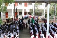 انتقالي المعلا يواصل حملة رفع العلم الجنوبي وترديد النشيد الوطني في مدارس المديرية