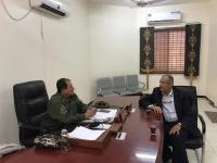 شطارة يناقش مع نائب مدير أمن عدن وضع مشروع مشترك لإنقاذ الشباب من آفة المخدرات