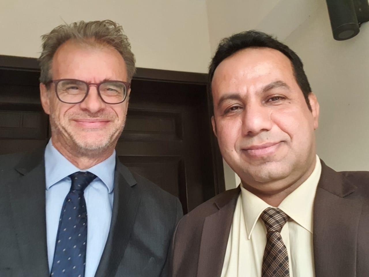 ممثل خارجية الانتقالي الشبحي يلتقي السفير الفرنسي لدى اليمن