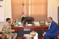 الرئيس القائد عيدروس الزُبيدي يناقش مع المقدم البوحر تطورات الأوضاع بمحافظة شبوة