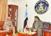 الرئيس الزُبيدي يطّلع من القائد النوبي على مستجدات الأوضاع العسكرية بمحور كرش