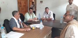 رئيس انتقالي لحج يتفقد سير العمل بمصلحة الأحوال المدنية في المحافظة