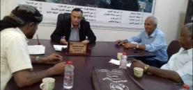 تنفيذية انتقالي المنصورة تناقش مع مدير عام المديرية عدداً من القضايا التي تهم سكان المديرية